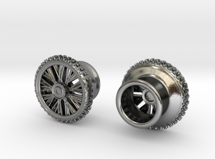 Dirtbike wheel Earing Tunnel 10mm 00G, pair 3d printed