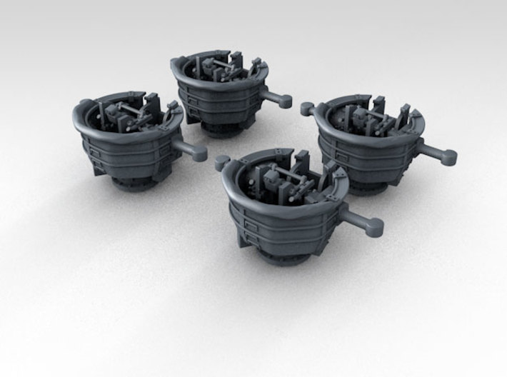 1/400 RN WW2 HACS MKIV Open (4) 3d printed 3d Render showing product detail
