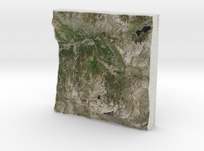 Alta Ski Area, Utah, USA, 1:50000 3d printed