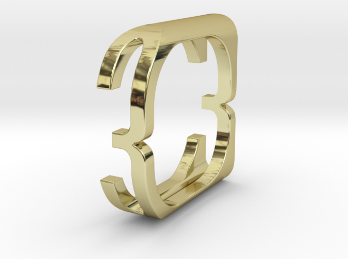 Fontasy Ring - Select character and size 3d printed