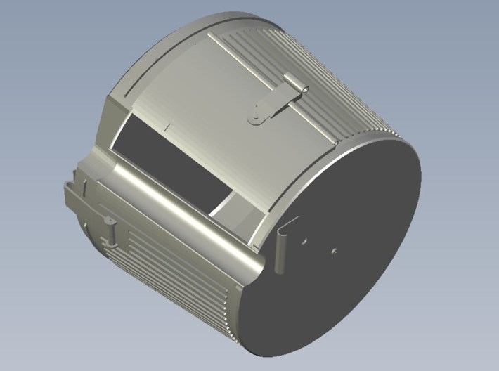 1/4 scale WWII Wehrmacht MG-42 drum magazines x 3 3d printed