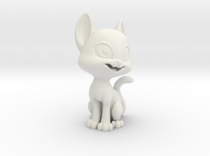 Happy Cat (2in Tall) 3d printed