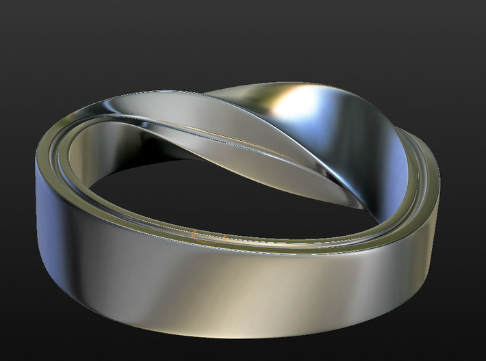 Mobius Strip Size 7 3d printed