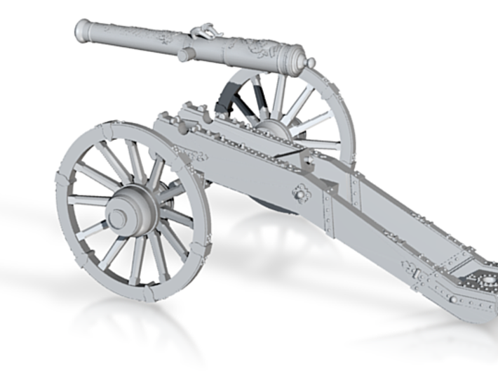 AF French cannon 4 Pounder long 7 Years War 28mm 3d printed