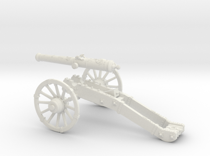 AF French cannon 8 Pounder 7 Years War 28mm 3d printed