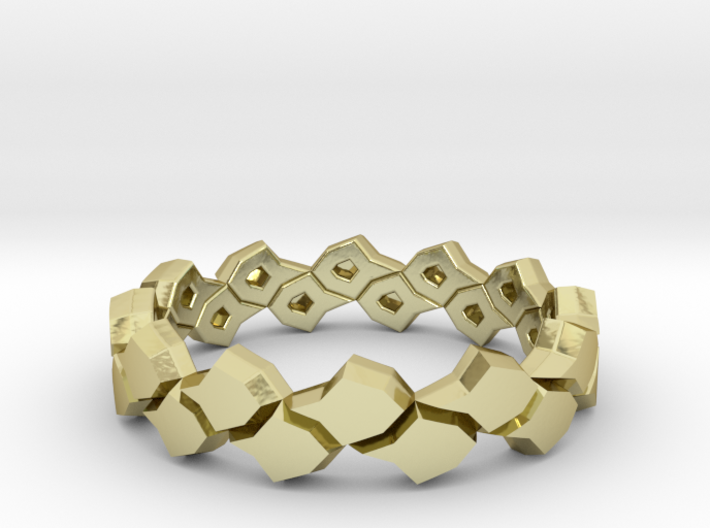 Black Pineapple Ring 3d printed