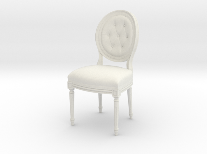 1:22 Louis XVI Side Chair (Custom Scale) 3d printed