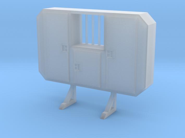 1/87 HO cabinet headache rack with window 3d printed
