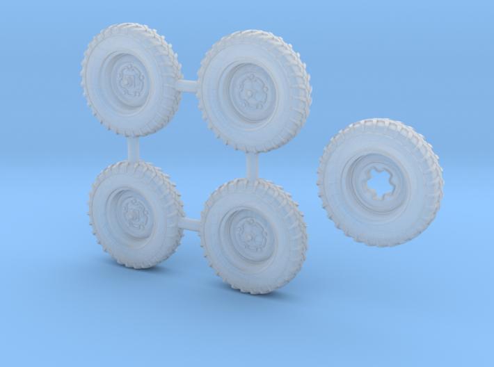 Schwimmwagen Wide Wheels 1/72 scale SWFUD-72010 3d printed