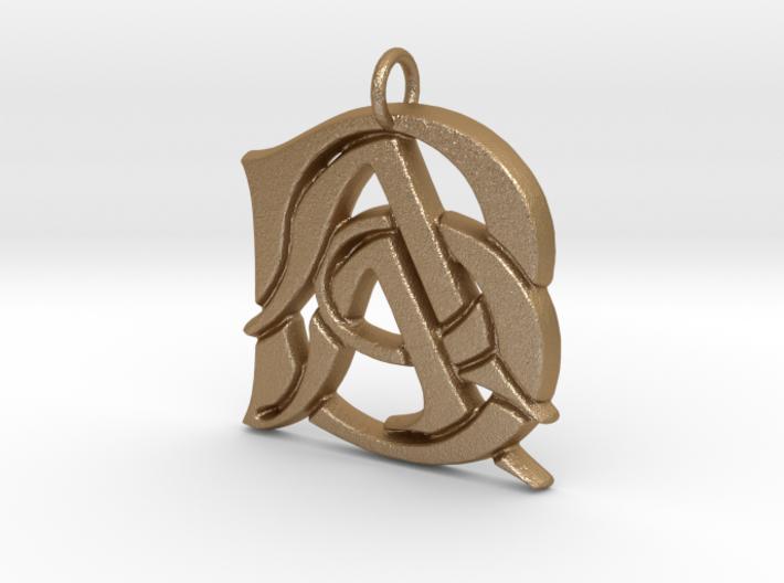 Monogram Initials AAB Pendant 3d printed