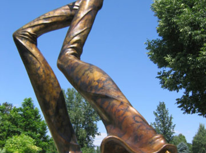 Monument in Right Foot Major 3d printed Monument in Right Feet Major, Bronze 8 x 4 x 9 feet:  Located in downtown Orlando FL, and Benson Sculpture Park Loveland CO