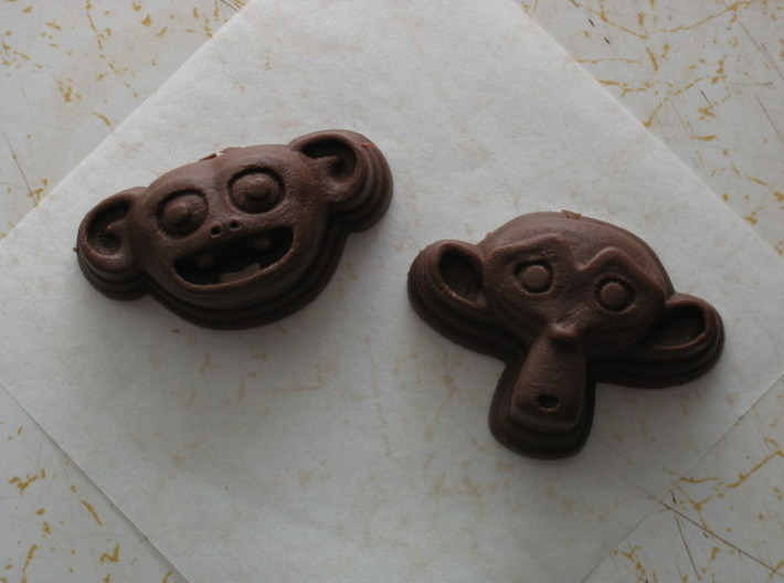 Cornelius Chocolate Die 3d printed Cornelius is the monkey on the left ...
