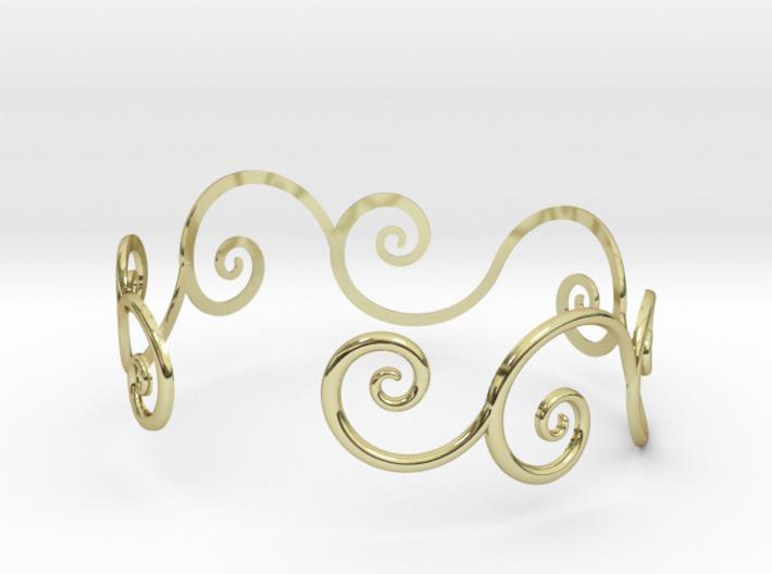 Bracelet Tendril 3d printed