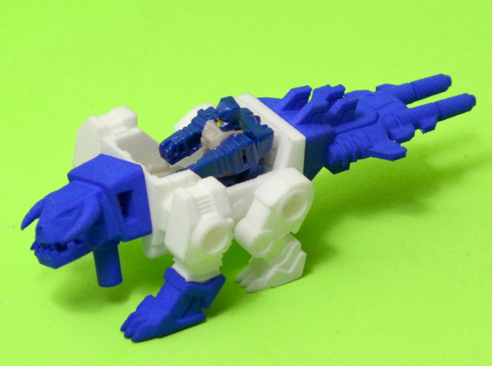 """Horri-Bull Minivehicle, """"A"""" Parts 3d printed Assembled kit shown with Terri-Bull minifigure (not included)"""