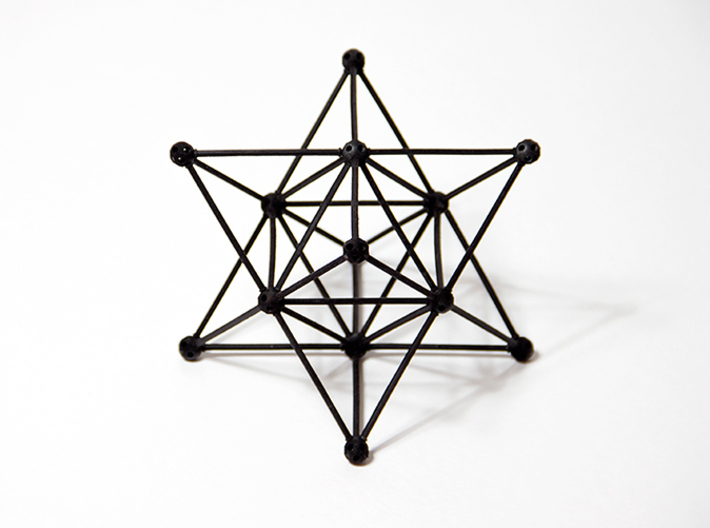 'Sprued' Star Tetrahedron #color 3d printed
