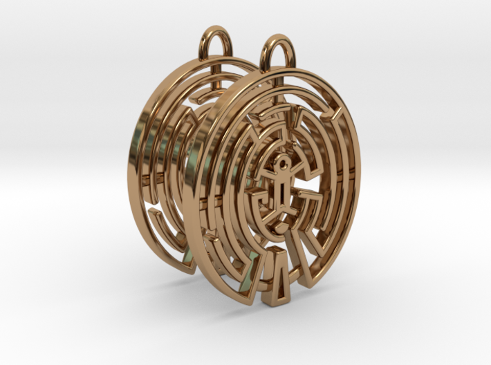 WestWorld Maze Earrings 3d printed