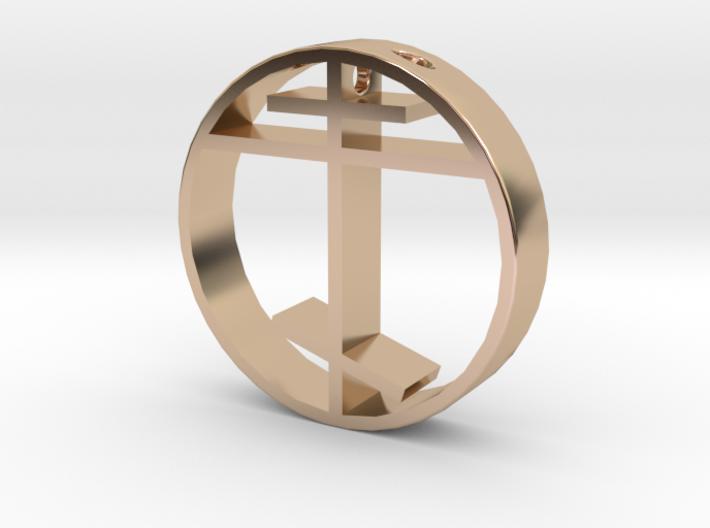 Orthodox cross pendant for men. 3d printed