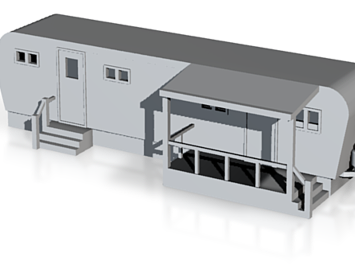Trailer Mobile Home 30ft - N 160:1 Scale 3d printed