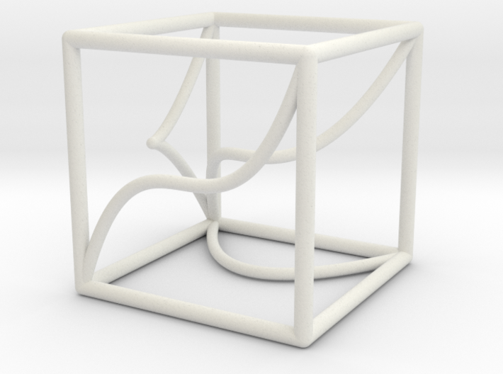 A 3d-curve and its shadows 3d printed