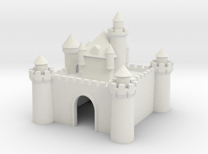 Castle - Ceramic - Z scale 3d printed