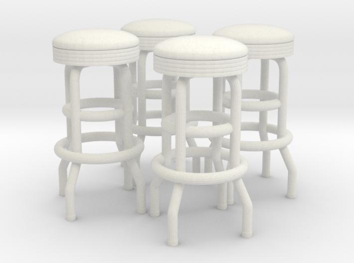 50's soda fountain bar stool 02. 1:22 Scale 3d printed