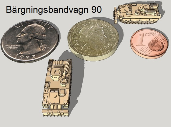 1/350 Bgbv-90 Armored Recovery Vehicles (4pcs) 3d printed