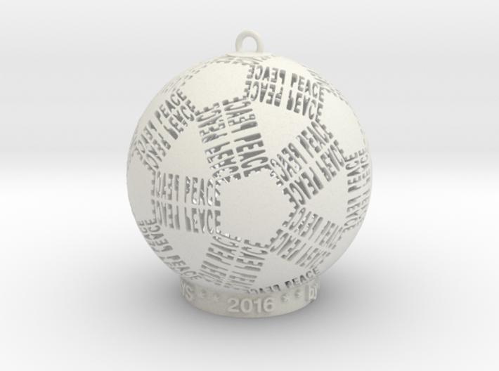 Peace Creator Ornament 3d printed