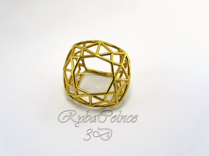 Ring The Diamond / size 6 US 3d printed