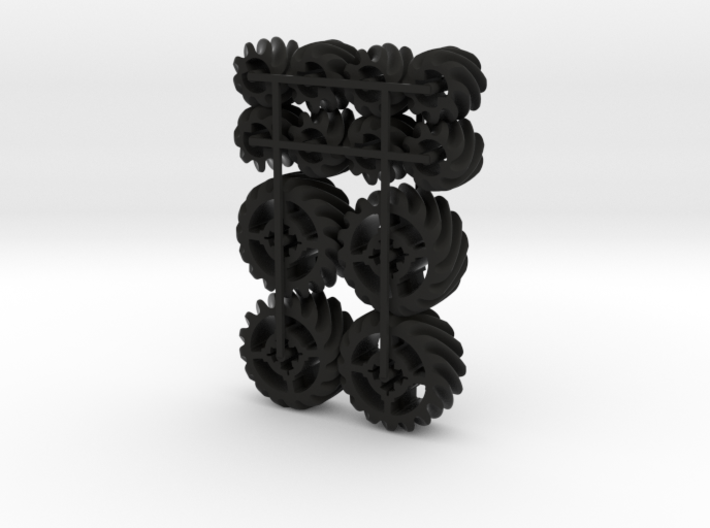 LEGO®-compatible helical gears 3d printed