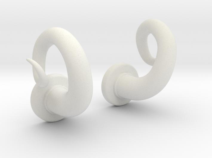 Smooth Cork-Screw Horn ~Set~ 3d printed