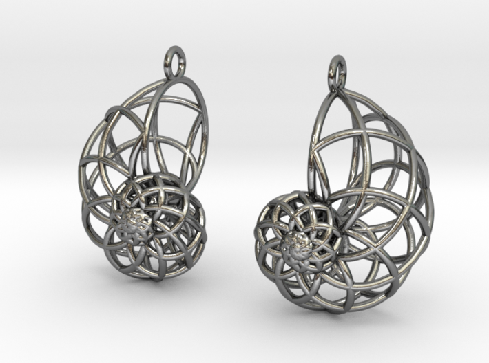 Conchoid Earrings 3d printed