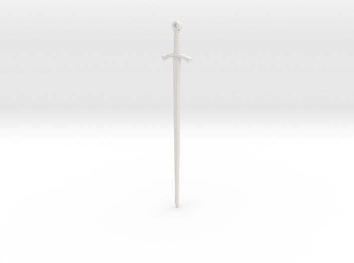 Excalibur Pendant 3d printed