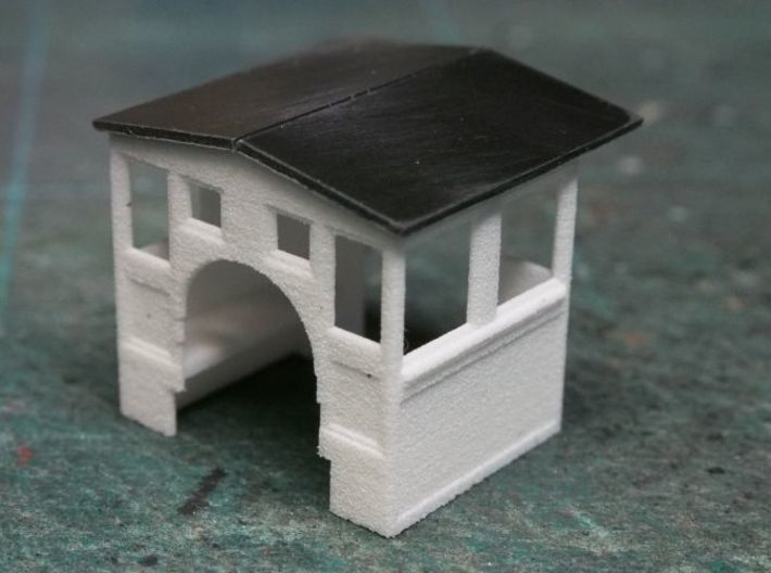 HOn30 Cab for 2-8-0 steam loco, mk.3 (peaked roof) 3d printed