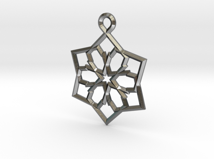 6 pointed star earring 3d printed