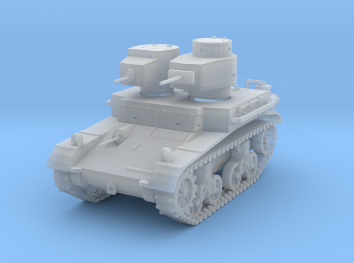 PV42D M2A2 Light Tank (1/144) 3d printed