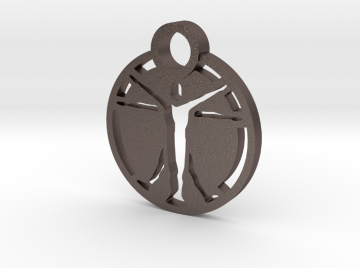 """The Institute"" Pendant 3d printed"