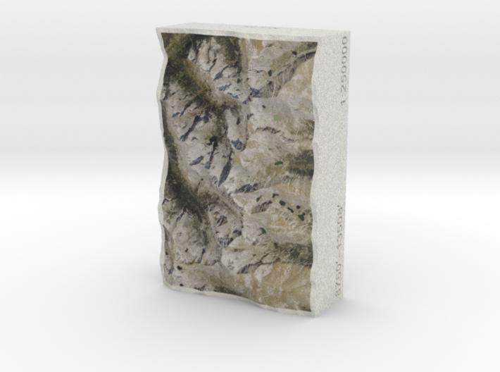 Colorado Front Range, USA, 1:250000 Explorer 3d printed