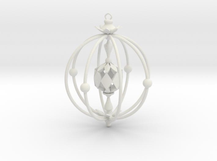 A Peachy Ornament 3d printed