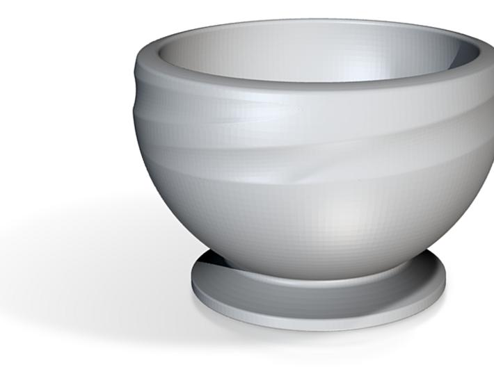 Hemiswirl Bowl 3d printed