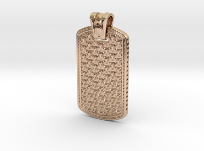HOUNDS TOOTH DOG TAG 1 3d printed
