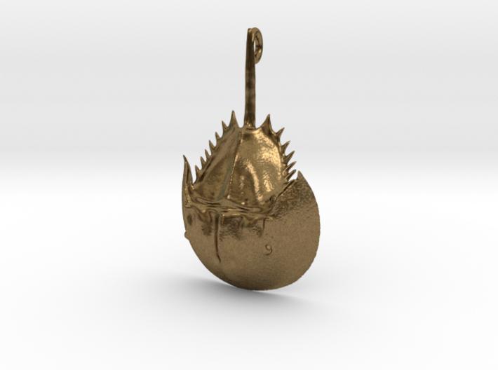 Horseshoe Crab Pendant 3d printed