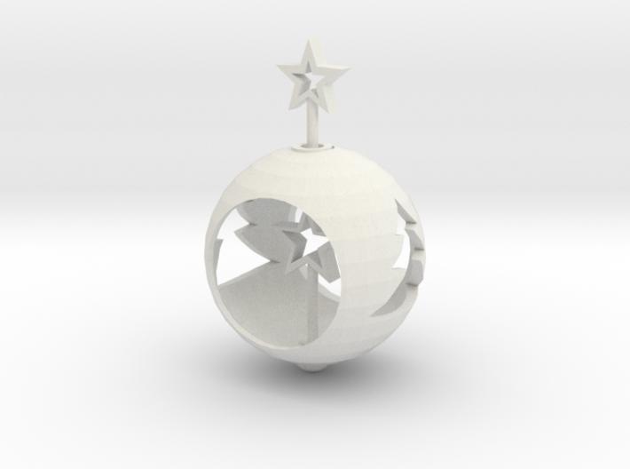 Christmas Ball With Movable Star 3d printed