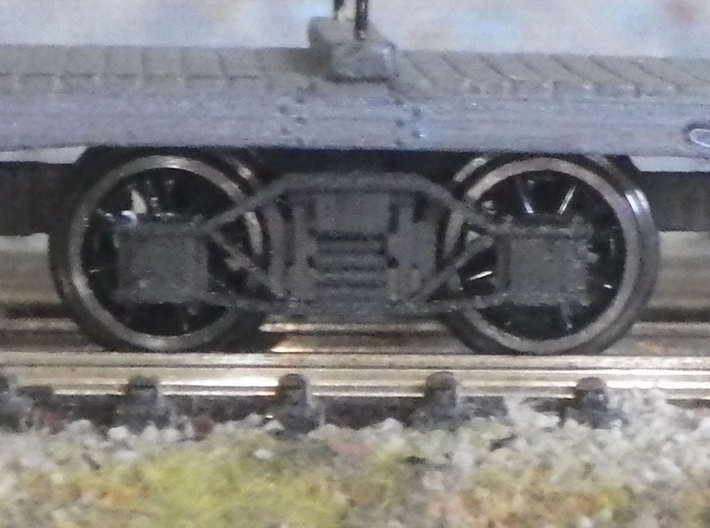 WD Poll Quad with bogies 3d printed Bogies painted with Windsor & Newton ink