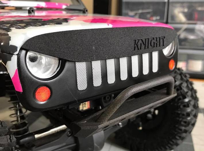 AJ40012 ANGRY Eye Brow 3d printed Part fitted to the Axial G6 body (sold separately)