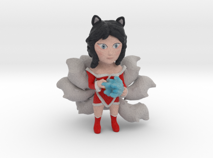 Ahri with fireball 3d printed