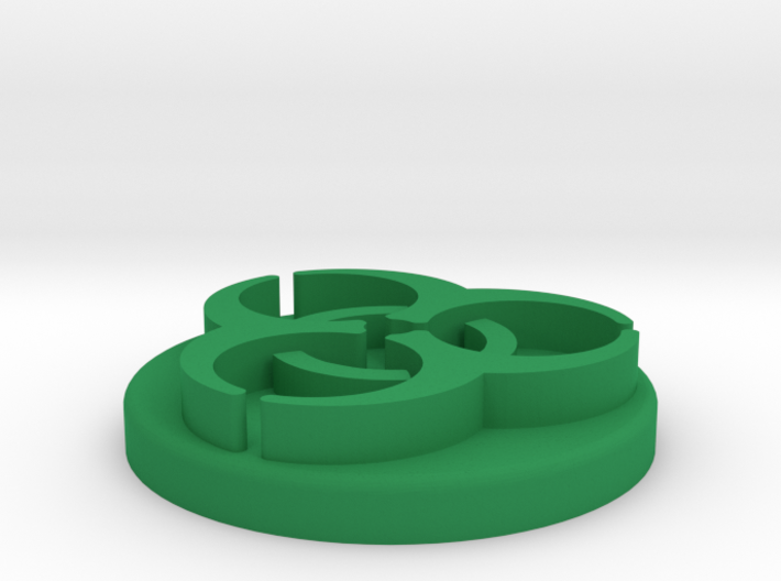Pandemic Infection Marker -- Legacy Board Sized 3d printed Render of token in Green Strong & Flexible Polished