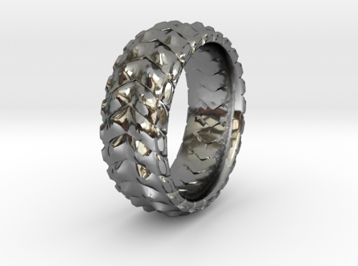 V RING 8 TRIMMED SIZE 11 with internal pattern 3d printed