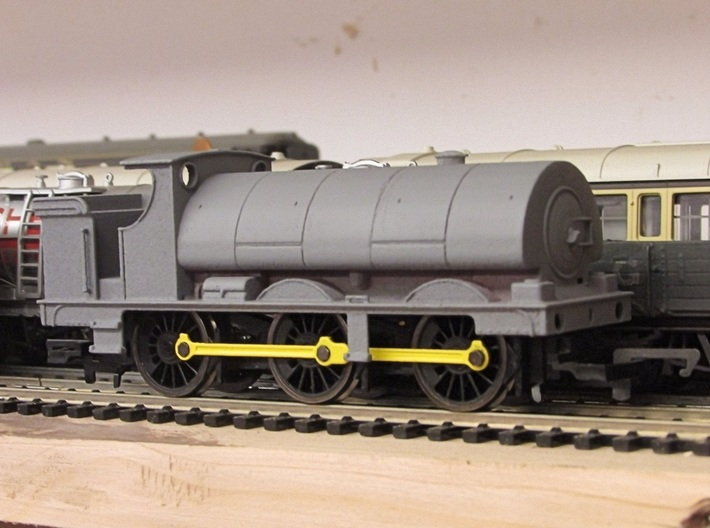 GWR Saddle Tank Body For Std Hornby 0-6-0 3d printed Body components contained in this print after priming and Fettling and fitted to chassis (later not supplied)