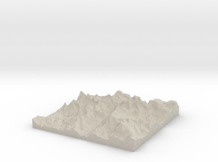 Model of Mount Helen 3d printed