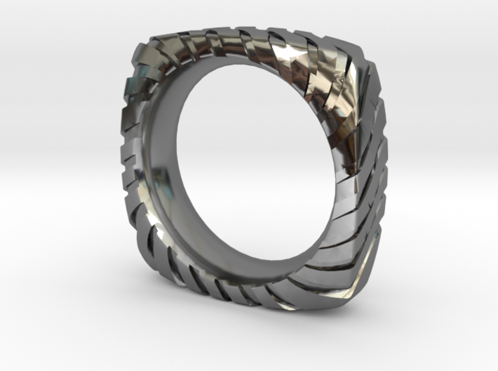 PILLOW CARVED RING 3d printed